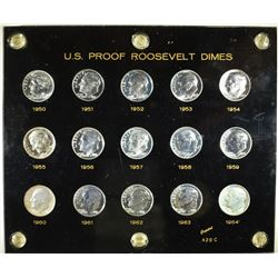 1950-64 PROOF ROOSEVELT DIME SET