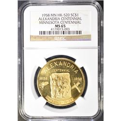 1958 MN HK-520 SO CALLED DOLLAR, NGC MS-65