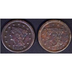 1850 VF & 1853 AU Some Rim Issues