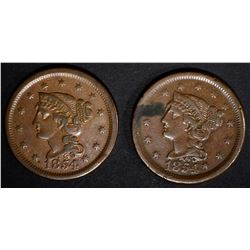 2 - 1854 LARGE CENT XF