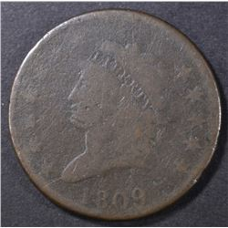 1809 LARGE CENT  G/VG