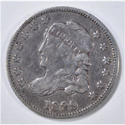 1829 BUST HALF DIME VF