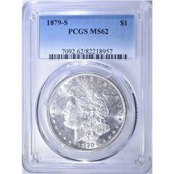 1879-S MORGAN DOLLAR, PCGS MS-62