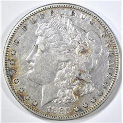 1885-S MORGAN DOLLAR, XF+