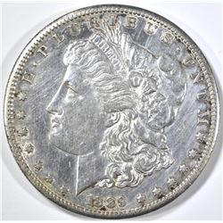 1889-S MORGAN DOLLAR, AU/BU cleaned
