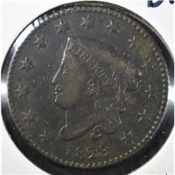 1823 LARGE CENT, VF+ KEY DATE
