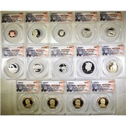 2014-S 14-COIN PROOF SET  ANACS PR-70 DCAM