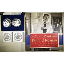 2011 2-COIN RONALD REAGAN  SILVER COMMEMS