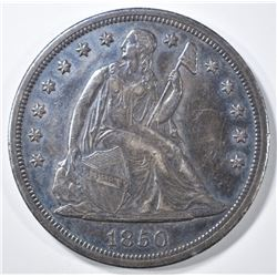1850-O SEATED LIBERTY DOLLAR  AU
