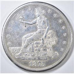 1875-S/CC TRADE DOLLAR  AU/BU
