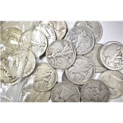 $10.00 MIXED DATE 90% SILVER HALF DOLLARS
