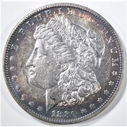 1880-O MORGAN DOLLAR AU/BU COLOR