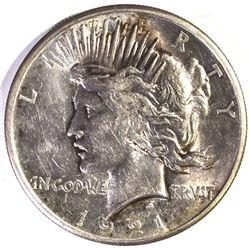 1921 PEACE DOLLAR, CH BU