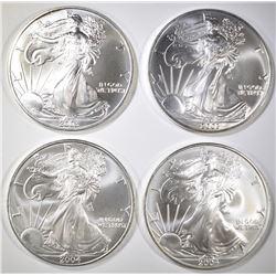 2-2003 & 2-2004 BU AMERICAN SILVER EAGLES