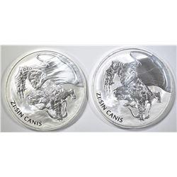 2-2018 KOREAN 1oz SILVER ZI:SIN CANIS COINS