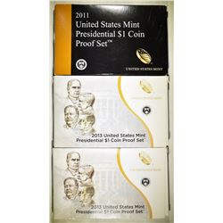2011 & 2-2013 U.S. PRESIDENTIAL PROOF SETS