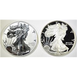 2006-W PROOF & 06-P REV. PROOF SILVER EAGLES