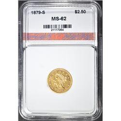 1879-S $2.50 GOLD LIBERTY, AGP BU