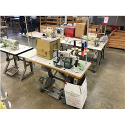 PEGASUS E52-133M INDUSTRIAL SERGER WITH RACING MDK-60 RUBBER BAND METERING DEVICE
