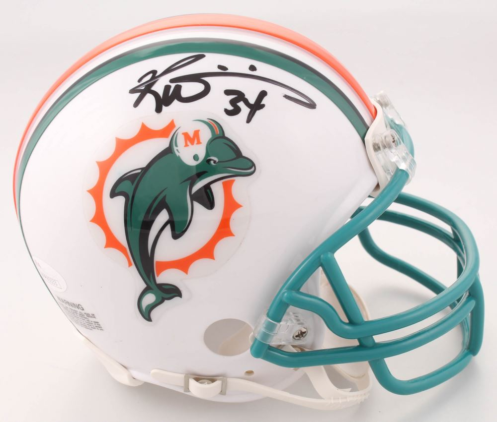 best service 91c1b 8b2d4 Ricky Williams Signed Miami Dolphins Throwback Mini ...