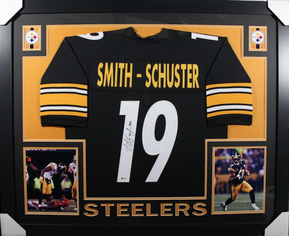 save off e7ace 9ae4e JuJu Smith-Schuster Signed Pittsburgh Steelers 35x43 ...