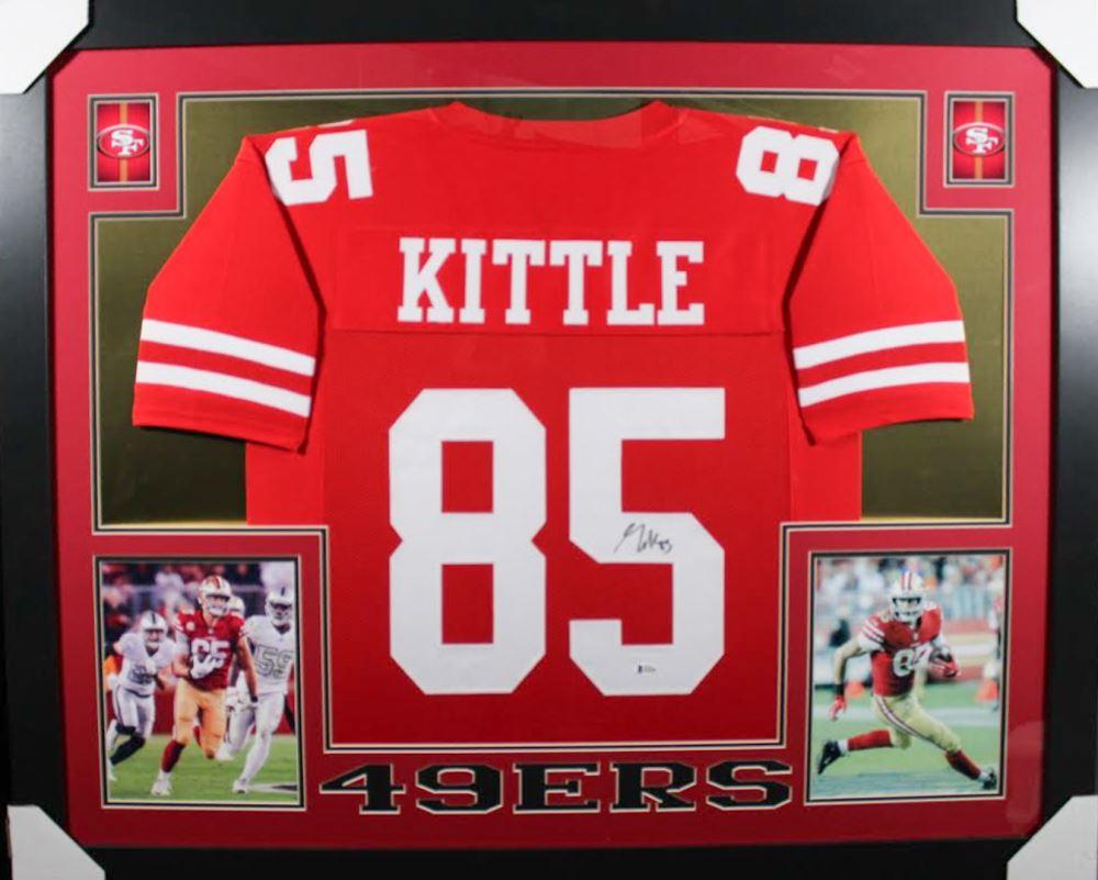 huge selection of 20aa4 de096 George Kittle Signed San Francisco 49ers 35x43 Custom Framed ...