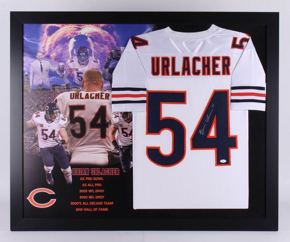 super popular bb687 98838 Brian Urlacher Signed Chicago Bears 35.5x43.5 Custom ...