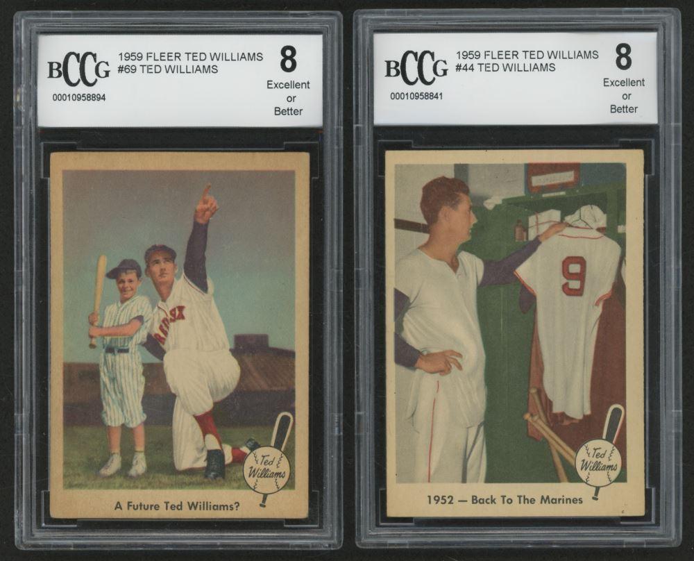 Lot Of 2 Bccg Graded 1959 Fleer Ted Williams Baseball