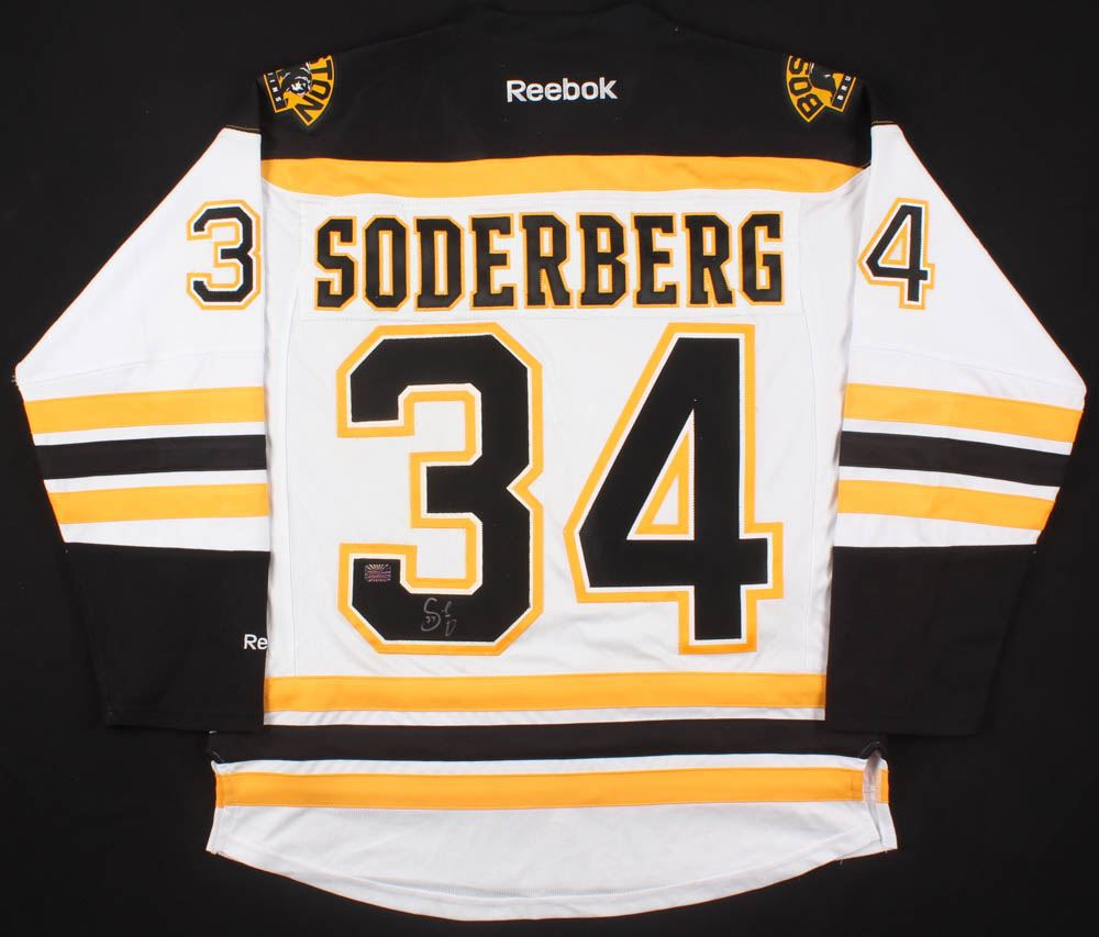 competitive price 9fbf6 99e9a Carl Soderberg Signed Boston Bruins Jersey (Your Sports ...