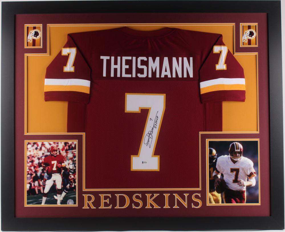 quality design 64b67 19b97 Joe Theismann Signed Washington Redskins 35x43 Custom ...