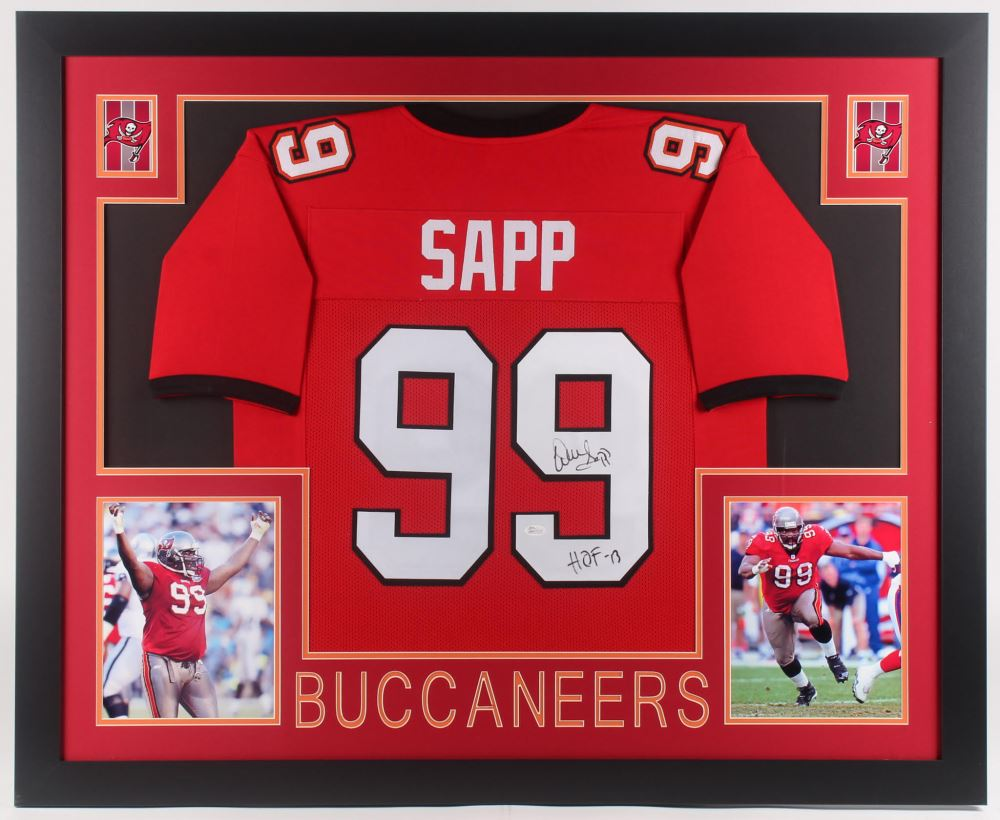 best website d6421 efda9 Warren Sapp Signed Tampa Bay Buccaneers 35x43 Custom ...