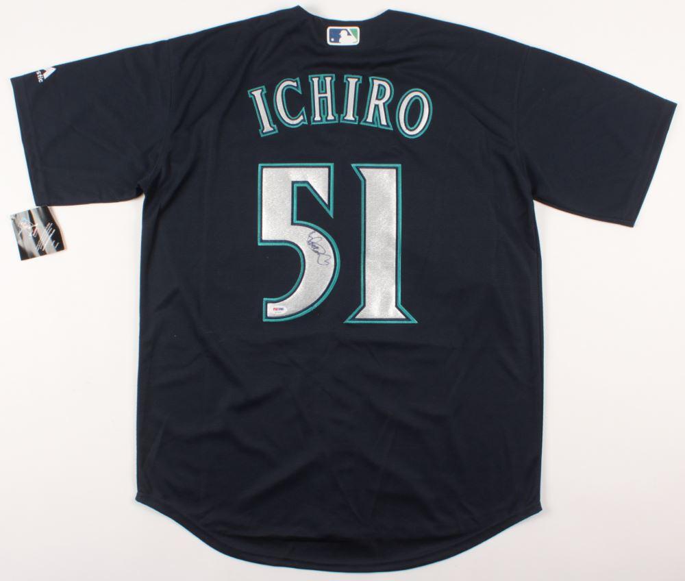 low priced d9308 b33e1 Ichiro Suzuki Signed Seattle Mariners Jersey (PSA COA)