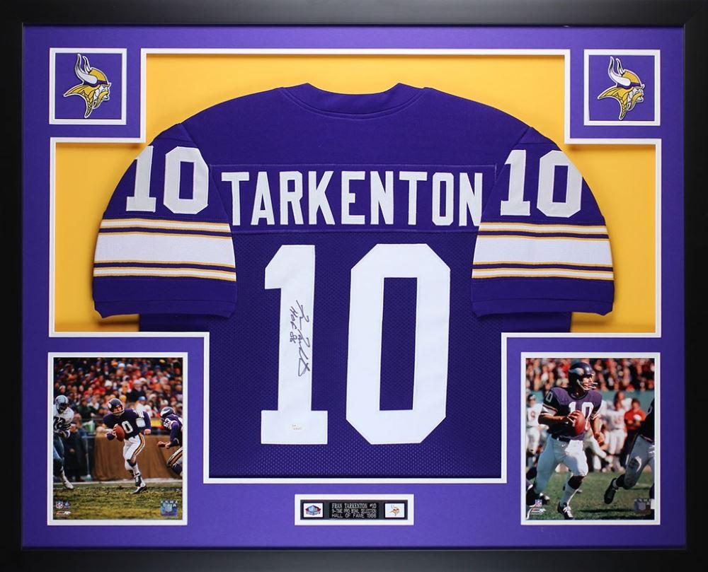 the best attitude 42e71 97eef Fran Tarkenton Signed Minnesota Vikings 35