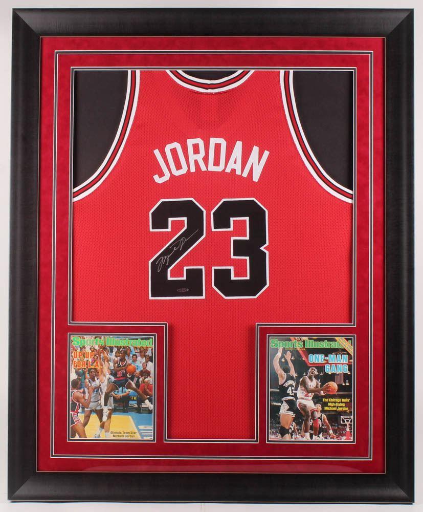 super popular 45796 a8797 Michael Jordan Signed Chicago Bulls 36.5x44.5 Custom ...