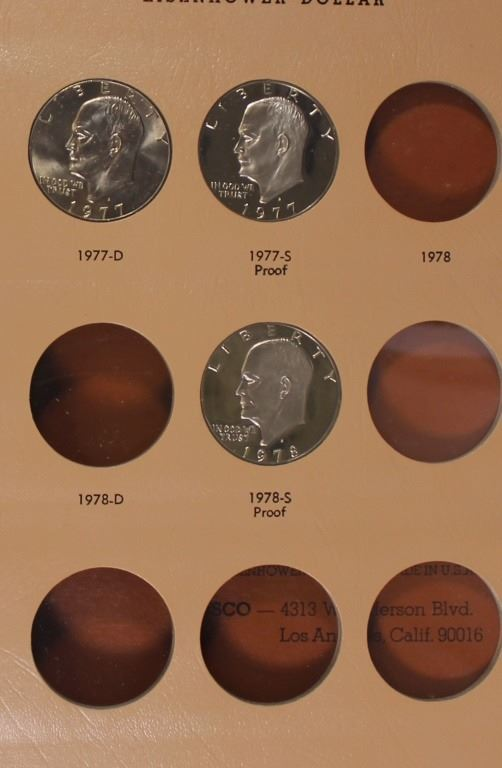 SET OF EISENHOWER DOLLARS 1971-1978