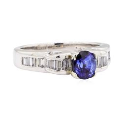 1.69 ctw Sapphire And Diamond Ring - Platinum
