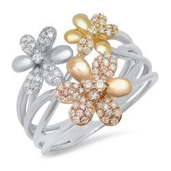 14K Yellow Gold 0.45CTW Diamond Ring, (I1-I2/H-I)