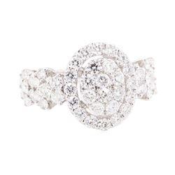 1.82 ctw Diamond Ring - 18KT White Gold