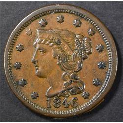 1846 LARGE CENT CH AU