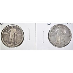 1918-S VF & 20-S XF STANDING LIBERTY QUARTERS