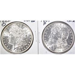 1881 CH BU & 82-O GEM BU MORGAN DOLLARS