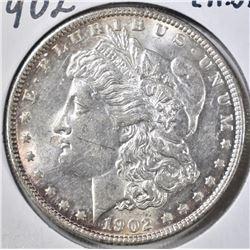 1902 MORGAN DOLLAR CH BU