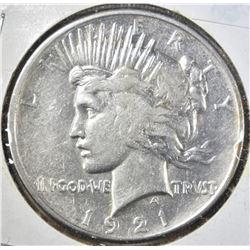 1921 PEACE DOLLAR, XF