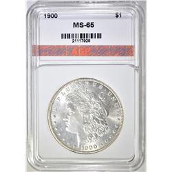 1900 MORGAN DOLLAR, GEM BU
