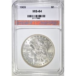 1903 MORGAN DOLLAR, AGP CH/GEM BU