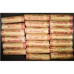 20-ROLLS CIRC LINCOLN WHEAT CENTS 1920-1929