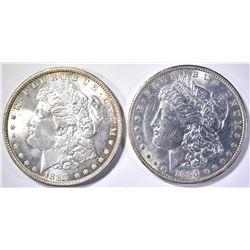 1888 & 90-O MORGAN DOLLARS CH BU