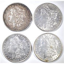 4-MORGAN DOLLARS MOSTLY AU