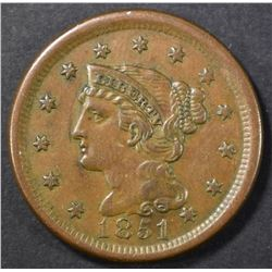 1851 LARGE CENT AU/BU