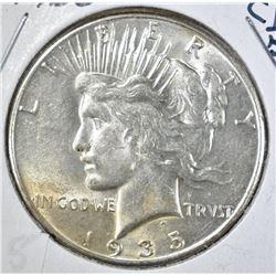1935 PEACE DOLLAR, CH BU